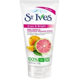 St. Ives Even & Bright Scrub, Pink Lemon & Mandarin Orange 6 oz