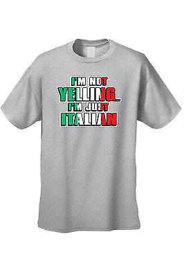 ad7681b48 Shop MEN'S FUNNY T-SHIRT I'm Not Yelling I'm Just Italian HUMOR ...