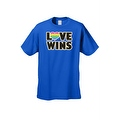 Men's T-Shirt Love Wins Gay Lesbian LGBT Rainbow Flag Pride Homosexual Equality - Thumbnail 5