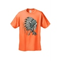 Men's T-Shirt Native Chief Skull Graphic Tee Indian American Feathers Bones - Thumbnail 5