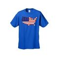 Men's USA Flag T Shirt Patriotic Country Pride Stars & Stripes Proud American - Thumbnail 2