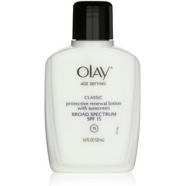 OLAY Age Defying Protective Renewal Lotion, With Sunscreen, Classic 4 oz