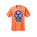 Men's T-Shirt Funny Sugar Skull Purple Galaxy Hipster Day of the Dead Victorian Tee - Thumbnail 7