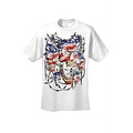 Men's T-Shirt USA Flag Skulls In Chains Stars & Stripes Pride American Graphic Tee - Thumbnail 13