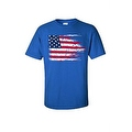 MEN'S AMERICAN FLAG T-SHIRT USA Ripped Distressed Flag STARS STRIPES HORIZONTAL - Thumbnail 6