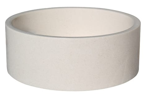 Cylindrical Natural Stone Vessel Sink - Limestone
