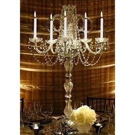 *Set Of 15* Wedding Crystal Candelabra Centerpieces