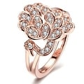 Rose Gold Floral Blossom Ring - Thumbnail 0