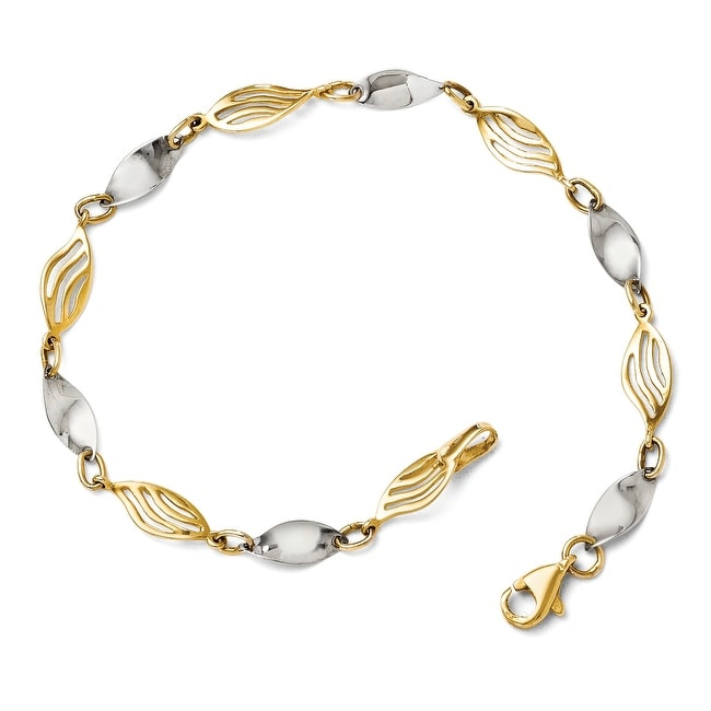 14k Two-Tone Gold Bracelet - 7 inches
