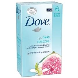 Dove Go Fresh 4-ounce Beauty Bar Restore Blue Fig & Orange Blossom 6 Each