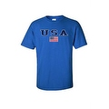 MEN'S T-SHIRT USA AMERICAN FLAG TEE PATRIOTIC STARS STRIPES RED WHITE BLUE S-5XL - Thumbnail 7