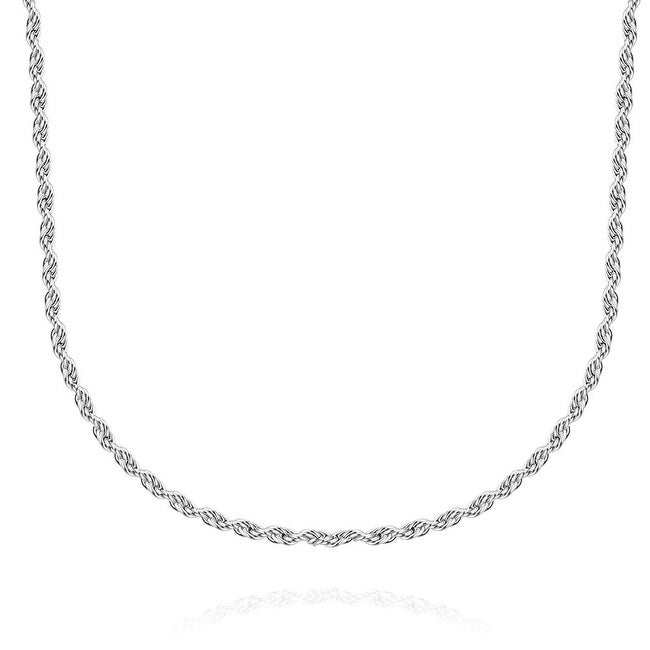 Thin Line Cut Stainless Steel Men's Chain 18 inches