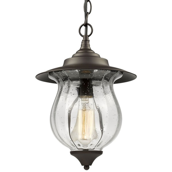 Outdoor foyer glass pendant lamp light