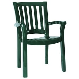 The Sunshine Resin Dining Armchair (Set of 4), Green