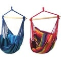 Sunnydaze Hanging Hammock Swing with Two Cushions - Set of 2 - Options Available - Thumbnail 14