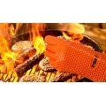 Heat Resistant Silicone Cooking BBQ Gloves, Heavy Duty - Thumbnail 2