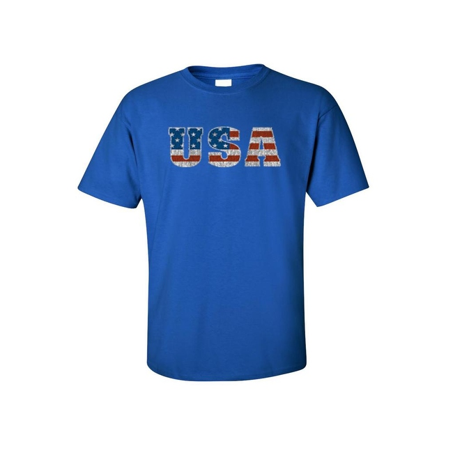 Men's T-Shirt United States of America USA Flag Pride Stars & Stripes Patriotic Tee