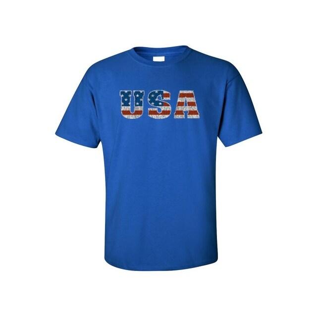 c57af062ac Shop Men's T-Shirt United States of America USA Flag Pride Stars ...