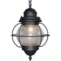 Globe outdoor aluminum glass pendant lamp light