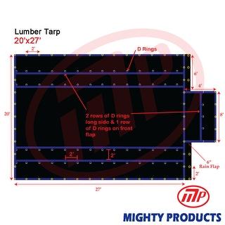 Xtarps - 20' x 27'  Truck Tarp - Lumber Tarp - Heavy Duty, Industrial Grade