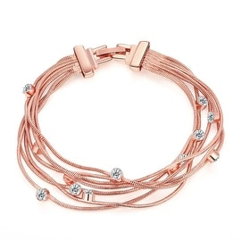 Vienna Jewelry 18K Rose Gold Plated Wrap Bracelet