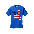 Men's T-Shirt USA Flag American Bald Eagle Stars & Stripes Old Glory Pride Patriotic - Thumbnail 7
