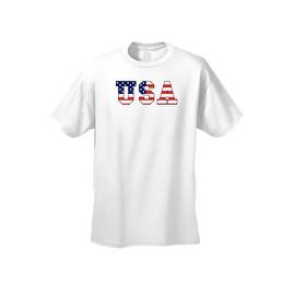 Men's T-Shirt USA Flag American Pride Stars & Stripes Old Glory Vet Tee Patriotic