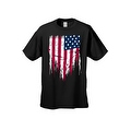 MEN'S PATRIOTIC T-SHIRT Painted USA AMERICAN FLAG RED WHITE BLUE PRIDE S-5XL TEE - Thumbnail 8