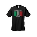 Men's Funny T-Shirt Made In Italy Humor Italian Pride Barcode Flag Jersey Shores - Thumbnail 7