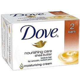 Dove Nourishing Care Moisturizing Cream Beauty Bar, Shea Butter, 4 oz bars, 2 ea
