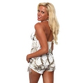 Women's 2-Piece Camo Bikini White True Timber Tankini Top & String Shorts Beach Swimwear Swimsuit - Thumbnail 3