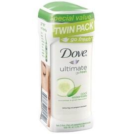 Dove go fresh Anti-Perspirant Deodorant, Cucumber & Green Tea, Twin Pack, 2.6 oz