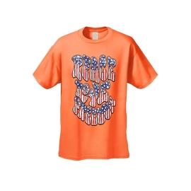 Men's Patriotic T-Shirt Peace Love Freedom Stars & Stripes Patriotic Vet Hippie Tee