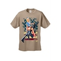 Men's T-Shirt USA Flag Pin-Up Girl on Rifle 2nd Amendment M4 Bombshell Pride - Thumbnail 2