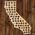 California Beer Cap Map - Thumbnail 0