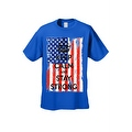 Men's T-Shirt USA Flag Keep Calm & Stay Strong Stars & Stripes America Patriotic - Thumbnail 0