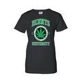 Women's Juniors T-Shirt Blunts Inst. Of Higher Learning Uni. Weed Pot Marijauna - Thumbnail 5