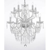 Crystal Icicle Waterfall Dining Room Chandelier Lighting