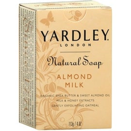 Yardley London Natural Bar Soap Almond Milk 4 oz