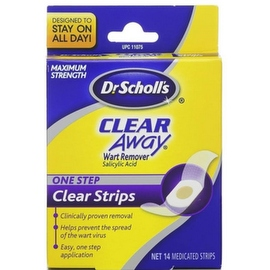 Dr. Scholl's Clear Away Wart Remover One Step Clear Strips (14 Each)