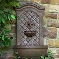 Sunnydaze Rosette Leaf Outdoor Wall Fountain, 31 Inch Tall - Thumbnail 5