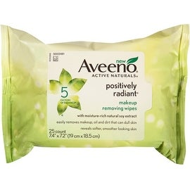 AVEENO Active Naturals Positively Radiant Makeup Removing Wipes (25 Each)
