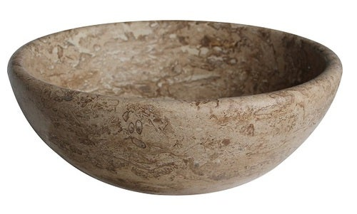Classic Natural Stone Vessel Sink - Afyon Noce Travertine