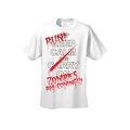 Men's T-Shirt Keep Calm and Run! Zombies are Coming!!! Undead Death Kill Tee - Thumbnail 5