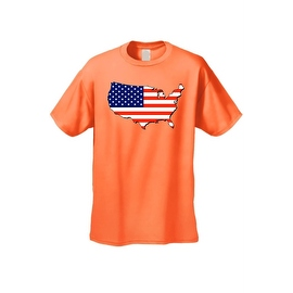 Men's USA Flag T Shirt Patriotic Country Pride Stars & Stripes Proud American
