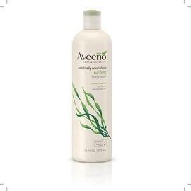 AVEENO Active Naturals Positively Nourishing Purifying Body Wash, Seaweed + Oatmeal 16 oz