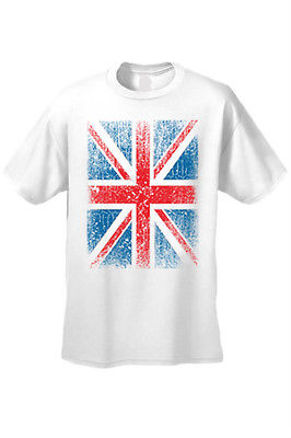 MEN'S T-SHIRT Distressed British Flag GREAT BRITAIN PATRIOTIC UNITED KINGDOM TEE