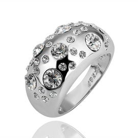 White Gold Plated Diamond Jewels Ring