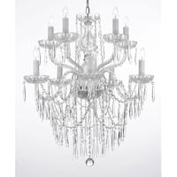 Swag Plug In Crystal Icicle Waterfall Dining Room Chandelier