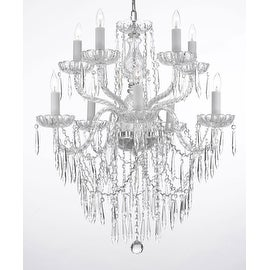 Plug In Chandelier Crystal Decorative 3 Tier Chandelier
